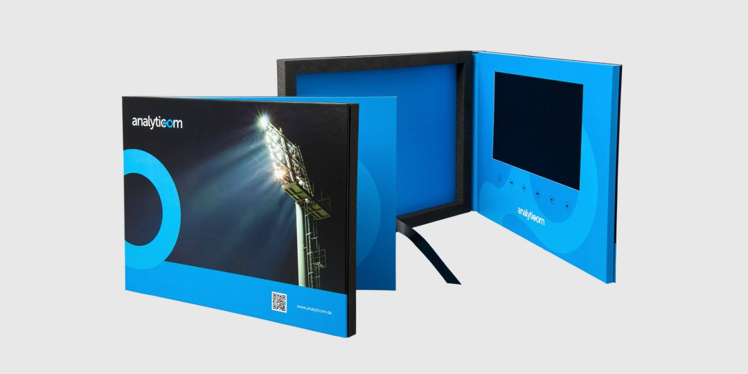 A4+ Hardback VideoPak with 10″ Screen & Foam Fitment for Booklet