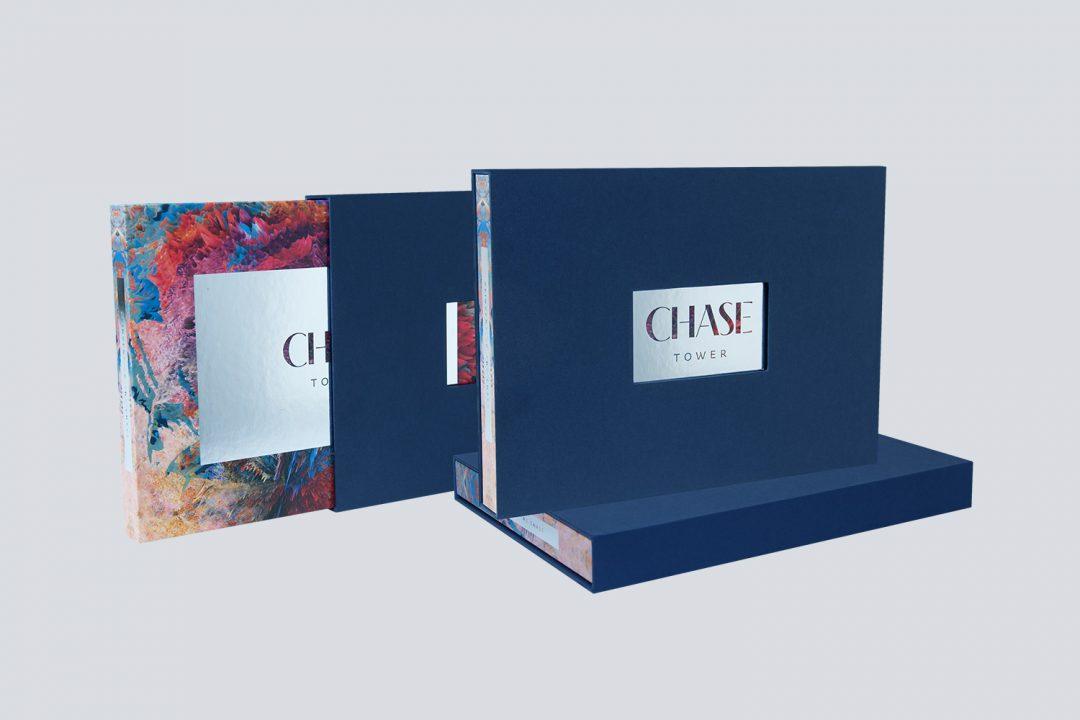 Luxury Hardback Video Brochure in a Die Cut Slipcase